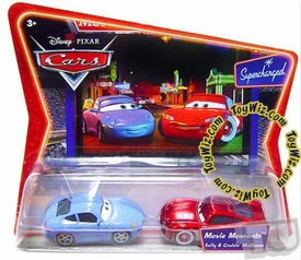 Disney / Pixar CARS Movie Moments 1:55 Die Cast Figure 2-Pack Series 2 Supercharged Sally & Cruisin' McQueen