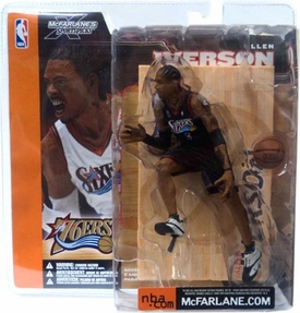 McFarlane Toys NBA Sports Picks Series 1 Action Figure Allen Iverson (Philadelphia 76ers) Black Jersey Variant