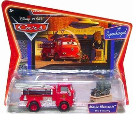 Disney / Pixar CARS Movie Moments 1:55 Die Cast Figure 2-PackSeries 2 Supercharged Red the Firetruck & Stanley