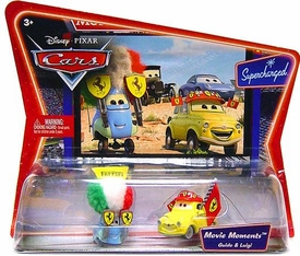 Disney / Pixar CARS Movie Moments 1:55 Die Cast Figure 2-Pack Series 2 Supercharged Luigi & Guido in Ferrari Gear