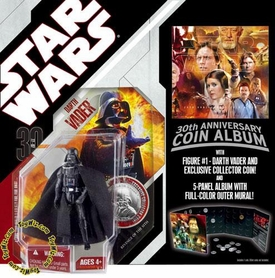 Star Wars 30th Anniversary Saga 2007 Action Figure Wave 1 #01 Darth Vader with Coin Album