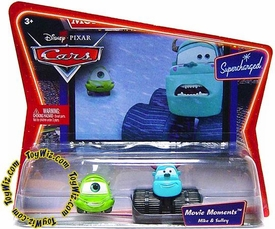Disney / Pixar CARS Movie Moments 1:55 Die Cast Figure 2-Pack Series 2 Supercharged Mike & Sulley [Monsters Inc.]