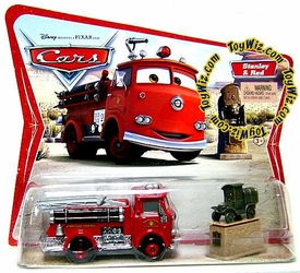 Disney / Pixar CARS Movie Moments 1:55 Die Cast Figure 2-Pack Series 1 Original Red [Firetruck] & Stanley