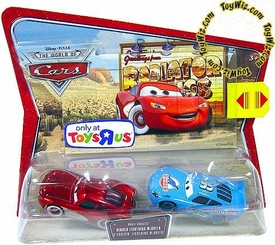 Disney / Pixar CARS Exclusive Movie Doubles 1:55 Die Cast Figure 2-Pack Dinoco & Cruisin' Lightning McQueen