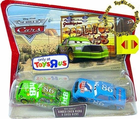 Disney / Pixar CARS Exclusive Movie Doubles 1:55 Die Cast Figure 2-Pack Dinoco & Green Chick Hicks