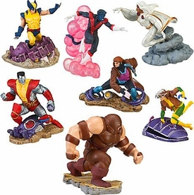 Disney Marvel Modern X-Men Exclusive 7-Piece PVC Figurine Playset [Wolverine, Gambit, Storm, Rogue, Colossus, Nightcrawler & Juggernaut]