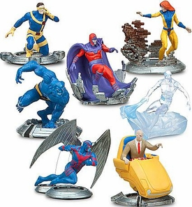 Disney Marvel CLASSIC X-Men Exclusive 7-Piece PVC Figurine Playset [Professor X, Cyclops, Magneto, Iceman, Jean Grey, Archangel, Beast]