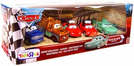 Disney / Pixar CARS Exclusive 1:55 Die Cast 5-Pack Flo's V8 Cafe [Hank Hallsum, Waitress Mia & Tia, Mater & Flo wth Tray]