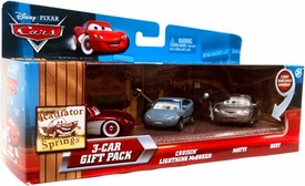 Disney / Pixar CARS Movie 1:55 Die Cast Cars with Lenticular Eyes 3-Car Gift Pack Cruisin' McQueen, Matti & Bert