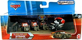 Disney / Pixar CARS Movie 1:55 Die Cast 4-Pack Team Nitroade Crew [Includes Nitroade Crew Chief!]