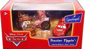 Disney / Pixar CARS Movie 1:55 Die Cast Figure 3-Pack Tractor Tippin' [McQueen, Mater & Tractor]