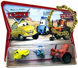 Disney / Pixar CARS Movie Moments 1:55 Die Cast Figure 3-Pack Series 1 Original Luigi, Guido & Tractor