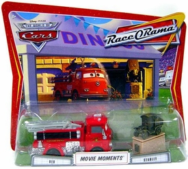 Disney / Pixar CARS Movie Moments 1:55 Die Cast Figure 2-Pack Series 4 Race-O-Rama Red & Stanley