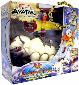 Avatar the Last Airbender Toy Appa with Air Launching Aang Figure Hard to Find!