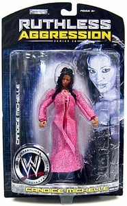 WWE Wrestling Ruthless Aggression Series 26 Action Figure Candice Michelle [Pink Robe]