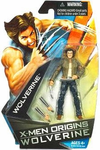 X-Men Origins Wolverine Movie Series 3 3/4 Inch Action Figure Wolverine with Jacket