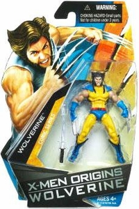 X-Men Origins Wolverine Comic Series 3 3/4 Inch Action Figure Wolverine with Blue & Yellow Suit [No Mask]