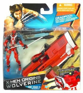 X-Men Origins Wolverine Comic Series Action Figure Deadpool with Missile Cannon