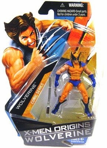 X-Men Origins Wolverine Comic Series 3 3/4 Inch Action Figure Wolverine with Blue & Yellow Suit
