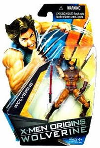 X-Men Origins Wolverine Comic Series 3 3/4 Inch Action Figure Wolverine with Brown & Yellow Suit