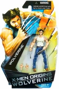 X-Men Origins Wolverine Movie Series 3 3/4 Inch Action Figure Wolverine with T-Shirt