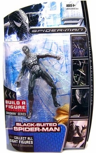 Marvel Legends Spider-Man Movie Action Figure Black-Suit Spider-Man [Sandman Build A Figure Piece!]