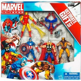 Marvel Universe 3 3/4 Inch Action Figure 5-Pack Avengers Ultimate Gift Set [Spider-Man, Wolverine, Iron Man, Thor & Captain America]
