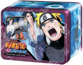Naruto Shippuden Card Game Fierce Ambitions Collector Tin Set Naruto Vs. Sasuke [Includes Promo Card]