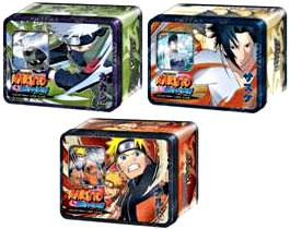 Naruto Shippuden Card Game Set of 3 Unbound Power Collector Tins [Naruto, Kakashi & Sasuke]