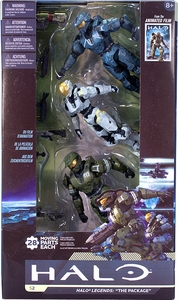 Halo Universe McFarlane Toys Legends: The Package Action Figure 3-Pack [Master Chief, Frederic-104 & Kelly-087]