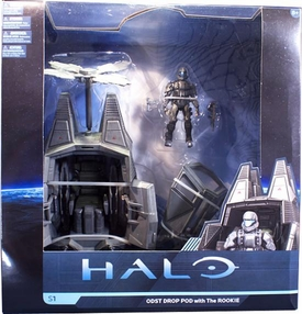 Halo Universe McFarlane Toys Deluxe Vehicle Box Set ODST Drop Pod with Rookie