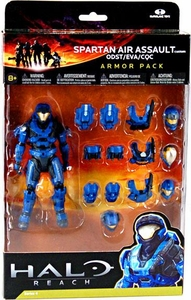 Halo Reach McFarlane Toys Armor Pack BLUE Spartan Air Assault Custom Armor Pack [ODST, EVA, CQC]