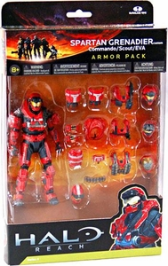 Halo Reach McFarlane Toys Armor Pack RED Spartan Grenadier Custom Armor Pack [Commando, Scout, EVA]