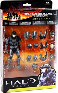 Halo Reach McFarlane Toys Armor Pack STEEL Spartan Air Assault Custom Armor Pack [ODST, EVA, CQC]