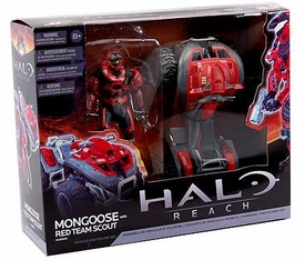 Halo McFarlane Toys Deluxe Vehicle Box Set Mongoose with RED Team Scout Spartan COLLECTOR'S CHOICE!