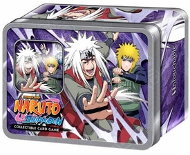 Naruto Shippuden Card Game Untouchable Collector Tin Set Jiraiya & the Fourth Hokage [Includes Promo Card]