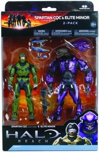Halo Reach McFarlane Toys Series 2 Action Figure 2-Pack UNSC Spartan CQC Custom {Male} & PURPLE Elite Minor [Invasion Slayer] COLLECTOR'S CHOICE!
