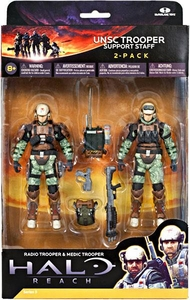 Halo Reach McFarlane Toys Series 3 Action Figure 2-Pack UNSC Trooper Support Staff [Medic Trooper & Radio Trooper]