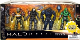 Halo Reach McFarlane Toys Series 1 Exclusive Action Figure 4-Pack Collector Box Set [Jorge, Emile, Elite Minor & GREEN Spartan Mark V] COLLECTOR'S CHOICE!