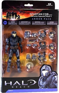Halo Reach McFarlane Toys Armor Pack Spartan CQB Custom & 3 Sets of STEEL Armor [Security, Operator & Mark V] COLLECTOR'S CHOICE!