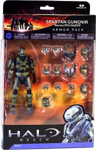 Halo Reach McFarlane Toys Armor Pack Spartan Gungnir Figure & 3 Sets of SAGE Armor[Recon, JFO & Hazop] COLLECTOR'S CHOICE!