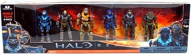 Halo Reach McFarlane Toys Deluxe Action Figure 6-Pack Box Set Noble Team [Carter, Kat, Jun, Emile, Jorge & Noble Six] Damaged Package, Mint Contents!