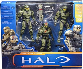 Halo Wars McFarlane Toys 10th Anniversary Series 2 Action Figure 3-Pack Spirit of Fire Red Team Box Set