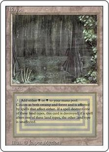 Magic the Gathering Revised Edition Single Card Rare Bayou