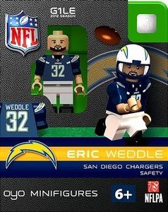 OYO Football NFL Building Brick Minifigure Eric Weddle [San Diego Chargers]