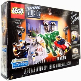 LEGO Studios Set #1349 Steven Spielberg Moviemaker Set [German Language Box] Damaged Package, Mint Contents!