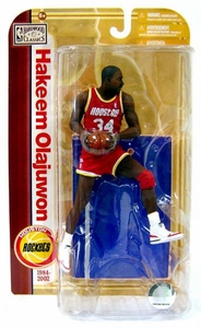 McFarlane Toys NBA Sports Picks Legends Series 5 Action Figure Hakeem Olajuwon (Houston Rockets) Red Jersey