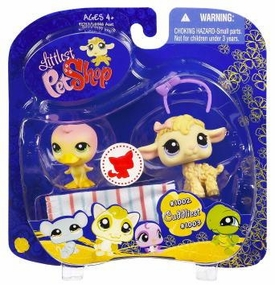 Littlest Pet Shop 2009 Assortment 'B' Series 4 Collectible Figure Duck & Lamb