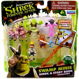 Shrek Forever After Swamp Minis Figure Set Shrek & Story Book Characters