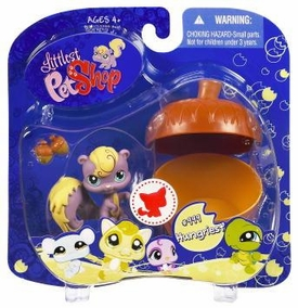 Littlest Pet Shop 2009 Assortment 'B' Series 4 Collectible Figure Squirrel with Acorn
